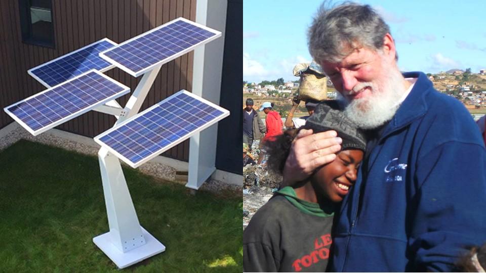 un village du p re pedro b n ficie des premiers arbres solaires. Black Bedroom Furniture Sets. Home Design Ideas