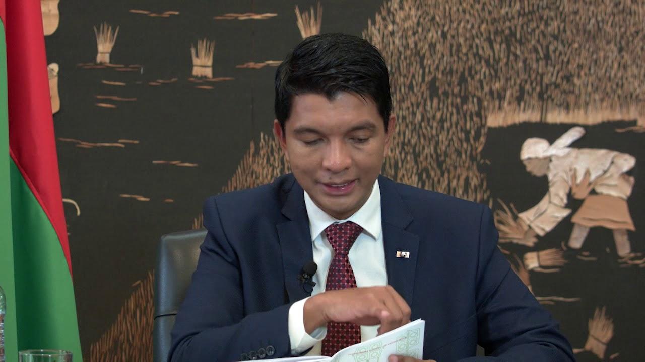 VIDEO. L'intervention télévisée de Rajoelina sur le changement de Constitution
