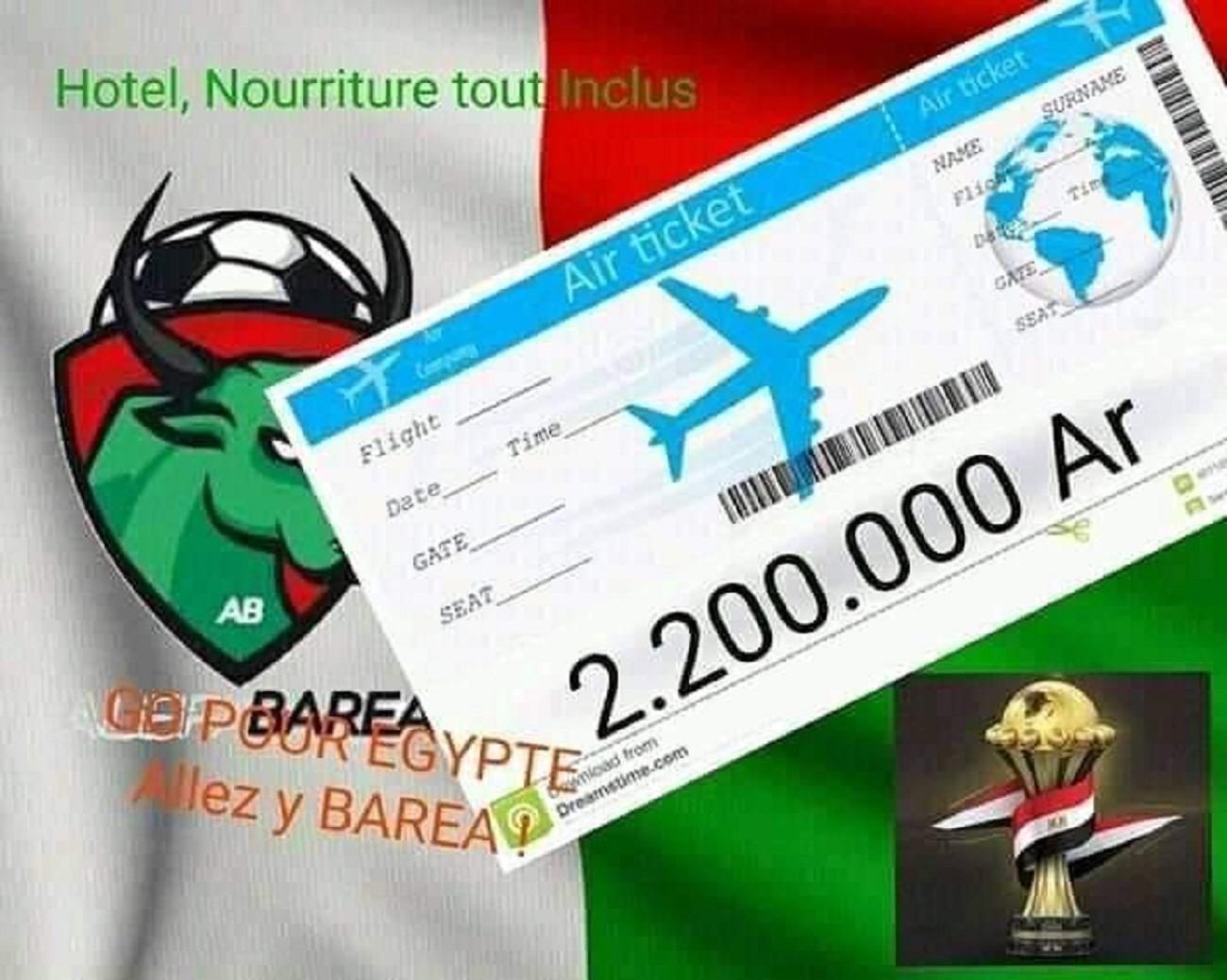Un avion spécial à tarif réduit pour aller voir le match des Barea en Egypte