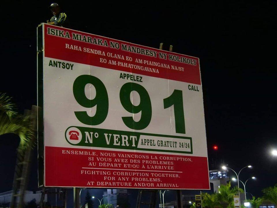 Un numéro de téléphone spécial pour dénoncer les tentatives d'extorsion à l'aéroport d'Ivato