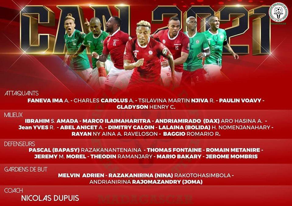 BAREA. Voici la liste des joueurs présélectionnés pour la qualification à la CAN 2021